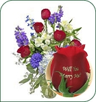 Red White & Blue Bouquet - Will You Marry Me?
