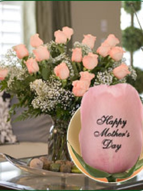18 Pink Roses - Happy Mother's Day